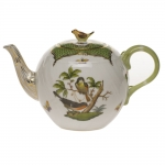 Rothschild Bird Green Border Tea Pot with Bird