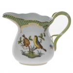 Rothschild Bird Green Border Creamer