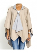 Camel and Light Grey Travel Raincoat