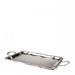 Rectangular Silver Plated  Chippendale Tray with Handles