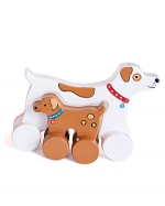 Dog Mommy and Baby Push Toy