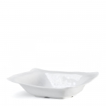 Ruffle White Melamine Shallow Serving Bowl