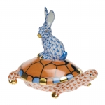 Small Rust/Blue Tortoise and Hare