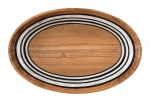Stonewood Stripe Oval Serving Bowl