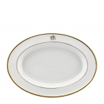 Signature Collection Gold Script Monogram Ultra White Platter