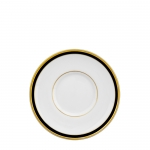 Signature Collection Gold and Black Can Cup Saucer