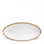 Soie Tressee Gold Small Oval Platter