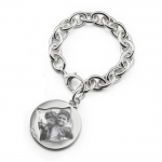 Sterling Silver Large Vine Half-Locket Bracelet