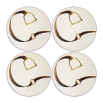 Stirrup & Strap Round Sandstone Coasters, Set of 4