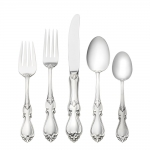 Queen Elizabeth Sterling Five Piece Place Setting
