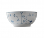 Blue Fluted Plain Serving Bowl