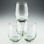 Stemless Wine Glasses, Set of Four