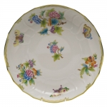 Queen Victoria Green Open Vegetable Bowl