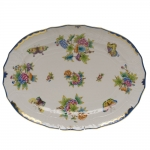 Queen Victoria Blue 15\ Oval Platter