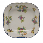 Queen Victoria Blue Square Fruit Dish