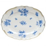 Fortuna Blue Oval Platter