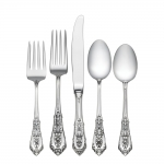 Rose Point Sterling Five Piece Place Setting