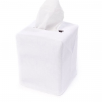 White Tissue Box Cover