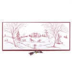 Country Estate Winter Frolic Ruby Hostess Tray