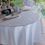 Appoline White Round Tablecloth