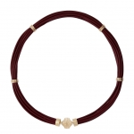 Aspen Chocolate Brown Leather Necklace