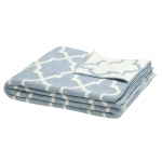 Blue/Milk Reversible Morcocco Throw
