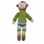 Boy Monkey School Book Rattle