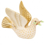 Butterscotch Peace Dove with Branch