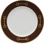 Cheval Chestnut Brown Dinner Plate