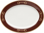 Cheval Chestnut Brown Oval Platter