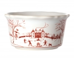 Country Estate Winter Frolic Ruby Ramekin
