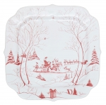 Country Estate Winter Frolic Ruby Santa\'s Cookie Tray