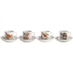 Chelsea Bird Set of Four Tea Cup & Saucer