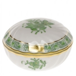 Chinese Bouquet Green Ring Box