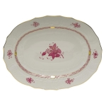Chinese Bouquet Raspberry 17\ Oval Platter