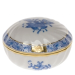 Chinese Bouquet Sapphire Blue Ring Box
