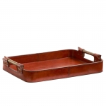 Leather Handled Tray