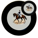 Dressage Horse Five Piece Place Setting