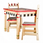 Custom Wooden table and 2 Chairs