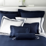 Elliot Navy Queen Coverlet