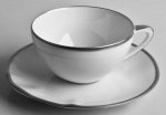 Simply Elegant Platinum Tea Cup