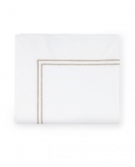 Grande Hotel White/Taupe Full/Queen Flat Sheet