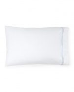 Grande Hotel White/Blue Standard Pillowcases, Pair