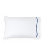 Grande Hotel White/Cornflower Blue Standard Pillowcases, Pair