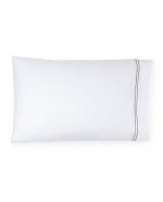 Grande Hotel White/Grey Standard Pillowcases, Pair