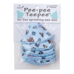 Peepee Teepee Firedog Blue in a Cello Bag