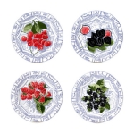 Oiseau Bleu Fruits Set of Four Dessert Plates