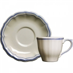 Filet Bleu Tea Cup and Saucer