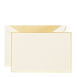 Gold Bordered Ecruwhite Correspondence Cards