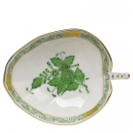 Chinese Bouquet Green Leaf Tray